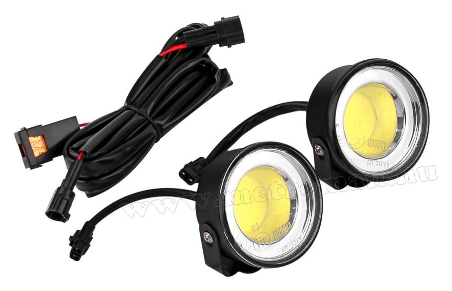 Nappali menetfény LED  DRL E jeles MX-012-COB 12/24 Volt