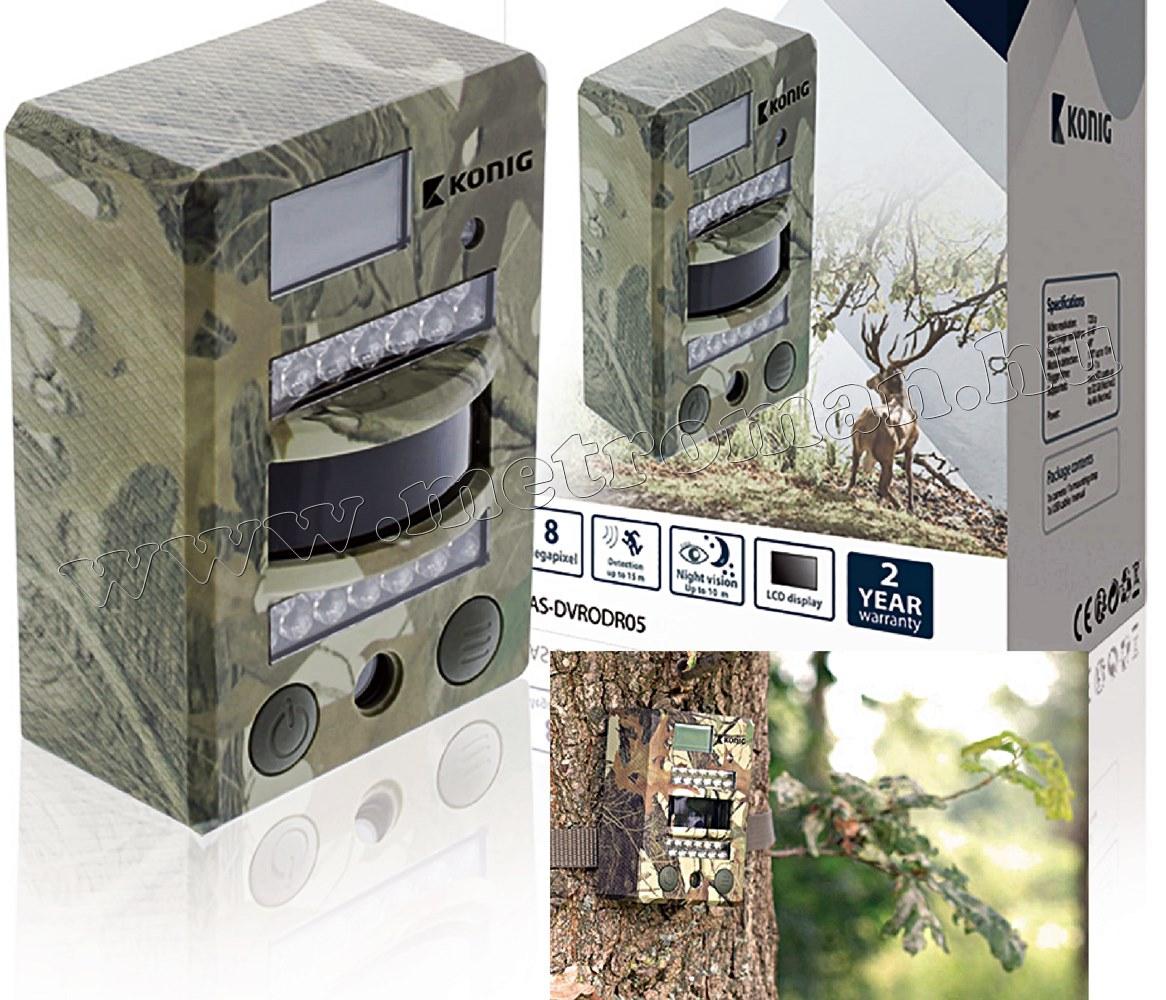 Mobil rejtett kamera, vadkamera beépített SD kártyás DVR felvevővel, König DVRODR05