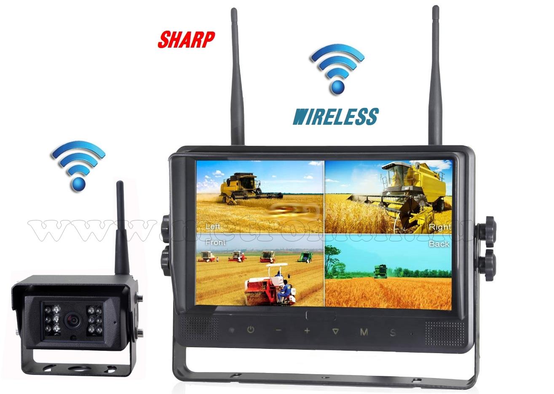 """Ipari kivitelű vezeték nélküli tolatókamera szett, Sharp Quad LCD 9"""" monitorral és 1 db Sharp Vision tolatókamerával DW900138QC-DW671"""