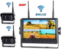 """Ipari kivitelű, vezeték nélküli tolatókamera szett, Sharp Quad LCD 9"""" monitorral és 2 db Sharp Vision tolatókamerával DW900138QC-DW671X2"""