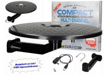 Digitális DVB-T autós, hajó és lakókocsi, erkély TV antenna Multi Channel DVT-T TV-USB-BK