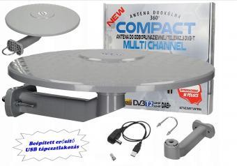 Digitális DVB-T autós, hajó és lakókocsi, erkély TV antenna Multi Channel DVT-T TV-USB-S