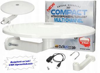 Digitális DVB-T autós, hajó és lakókocsi, erkély TV antenna Multi Channel DVT-T TV-USB-WH