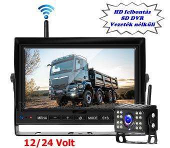 """Digitális vezeték nélküli tolatókamera szett 7""""-os HD LCD monitorral MM1401-HD 12/24 Volt"""