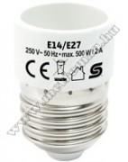 Foglalatátalakító adapter E14/E27