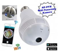 Lámpaizzóba rejtett Android iPhone Wifi SD kártyás HD panoráma kamera MB13LV2