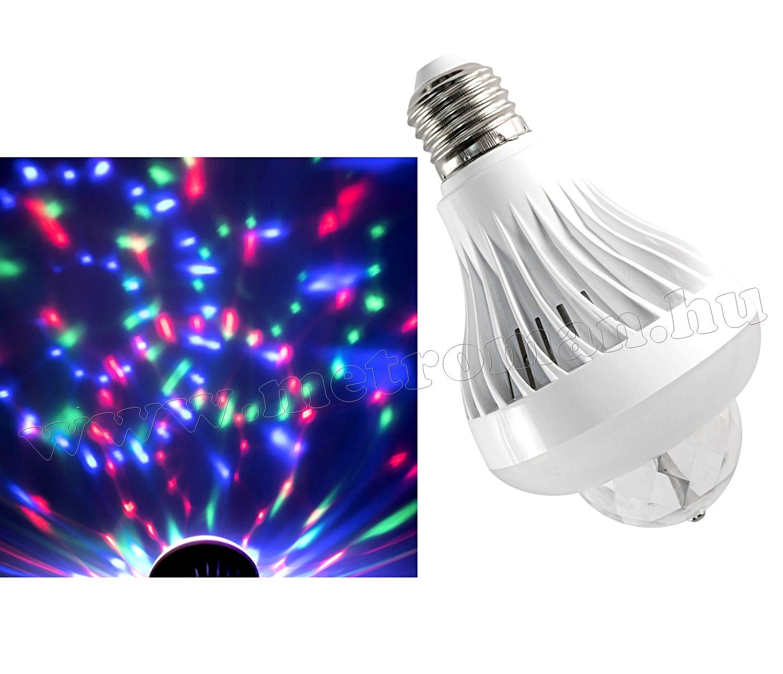 Színes RGB LED kétfunkciós diszkógömb lámpa MDL9