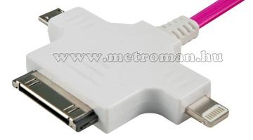 Android, iPhone, iPad töltő kábel, Polaroid EDC 8227