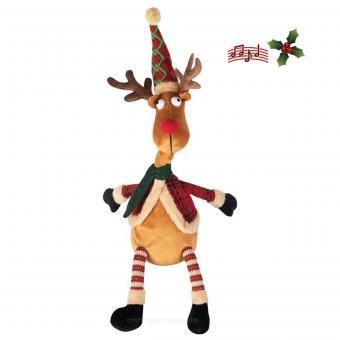 Éneklő karácsonyi rénszarvas KDD38