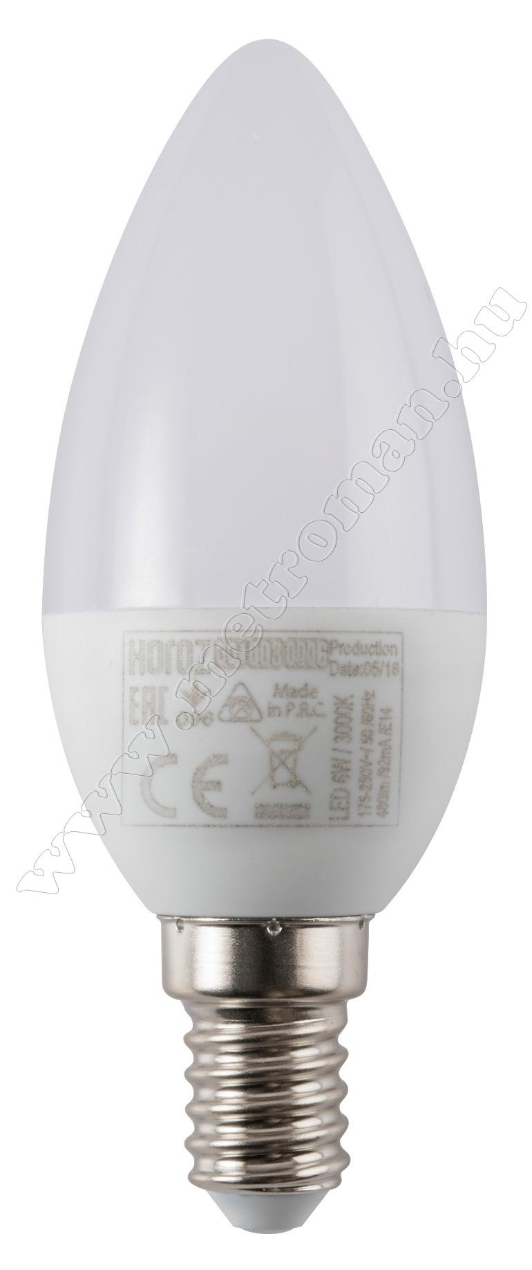 Energiatakarékos gyertya LED izzó ULTRA-6 3000K