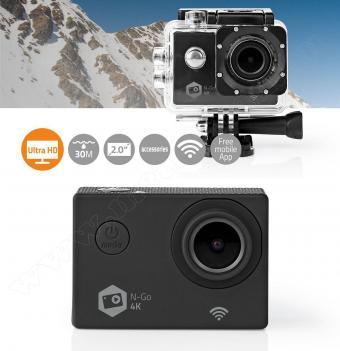 Extrém sport és akciókamera vízálló tokkal 4K UHD Wifi ACAM41BK