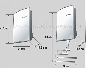 Elektromos Fürdőszobai fali fűtőtest Home FK 26