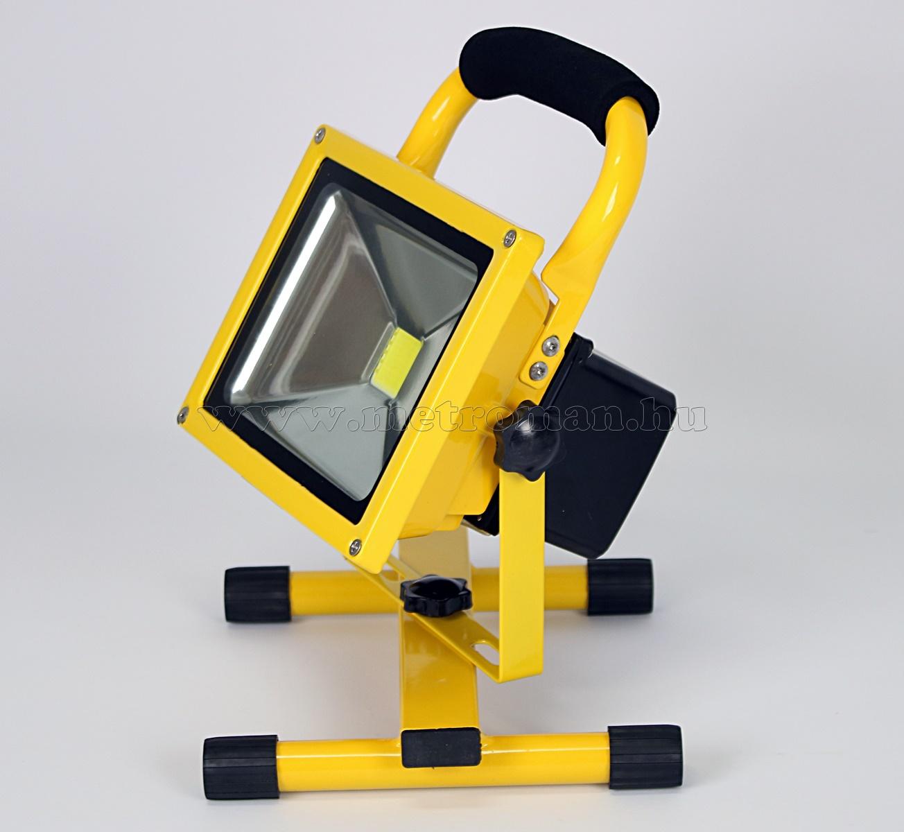 Akkumulátoros, tölthető LED Reflektor, 20 Watt, FLB20LED