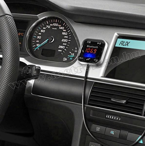 MP3 FM transzmitter és Bluetooth kihangosító FMBT 14