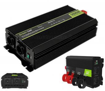 Nagyteljesítményű Feszültségátalakító inverter 12/230V 3000/6000 Watt Green Cell MGC12-3000W-12V