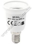 Foglalatátalakító adapter E27/E14