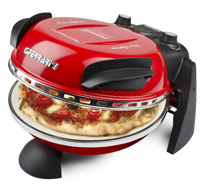 G3 Ferrari DELIZIA elektromos pizza sütő, piros G10006P