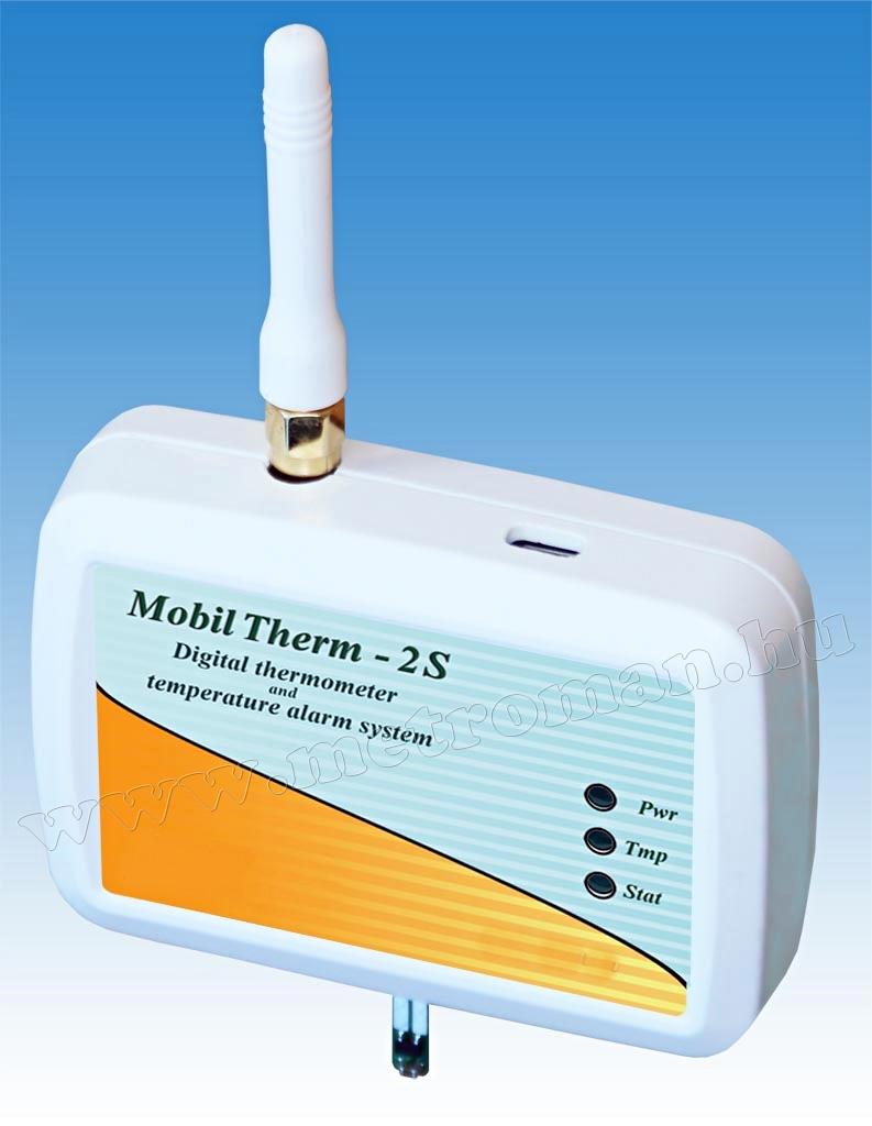 GSM hőmérő, hőmérséklet riasztó és fűtés távirányító MobilTherm-2S