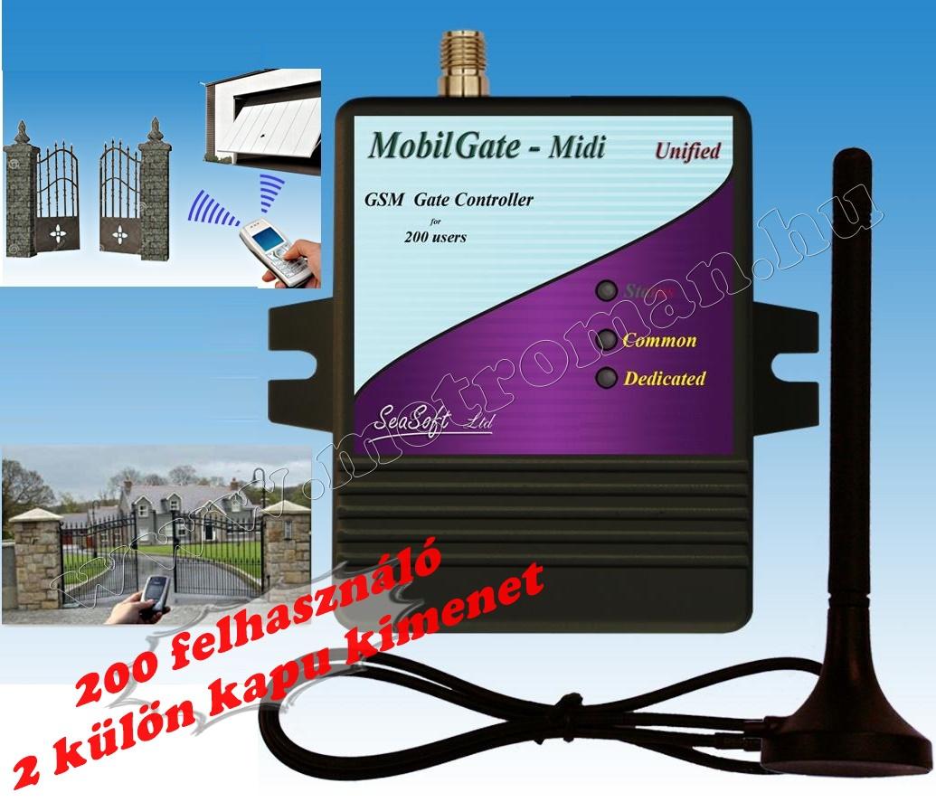 GSM kapunyitó távirányító MobilGate-Midi-A