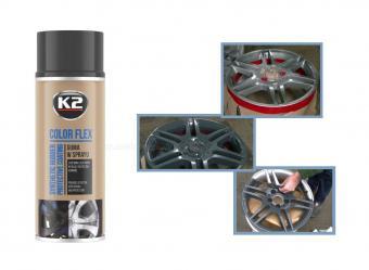 K2 COLOR FLEX Gumispray fekete 400 ml M01365-K2