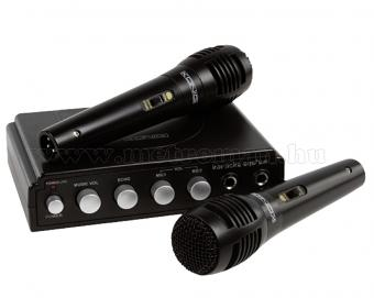 Karaoke keverő és mikrofon készlet, König HAV-KM11