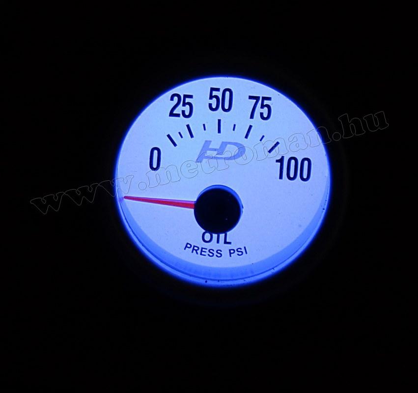 Autós sportműszer, olajnyomás mérő, LED7704