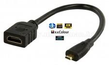 HDMI micro HDMI átalakító adapter kábel