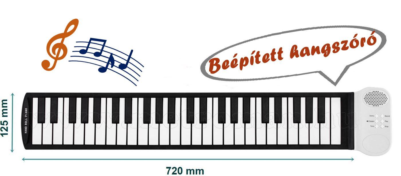 Feltekerhető elektromos zongora szintetizátor HRP1