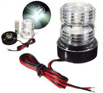 Hajó horgonyfény vízálló LED lámpa Fehér 360 fok MM9981LED 12/24 Volt