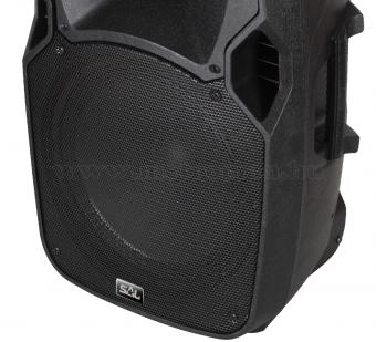 Hordozható Karaoke szett USB/SD/Bluetooth MP3 lejátszóval, vezeték nélküli mikrofonnal PAB 30BT DualMic