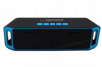 Hordozható SD USB MP3 lejátszó Bluetooth multimédia hangszóró Esperanza EP126KB