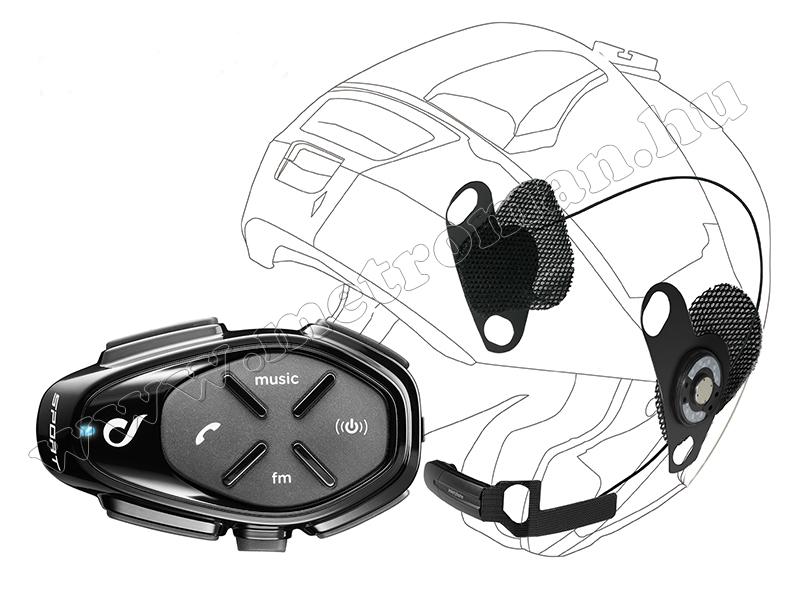 Motoros Bluetooth kihangosító és headszett, Interphone SPORT Single Pack