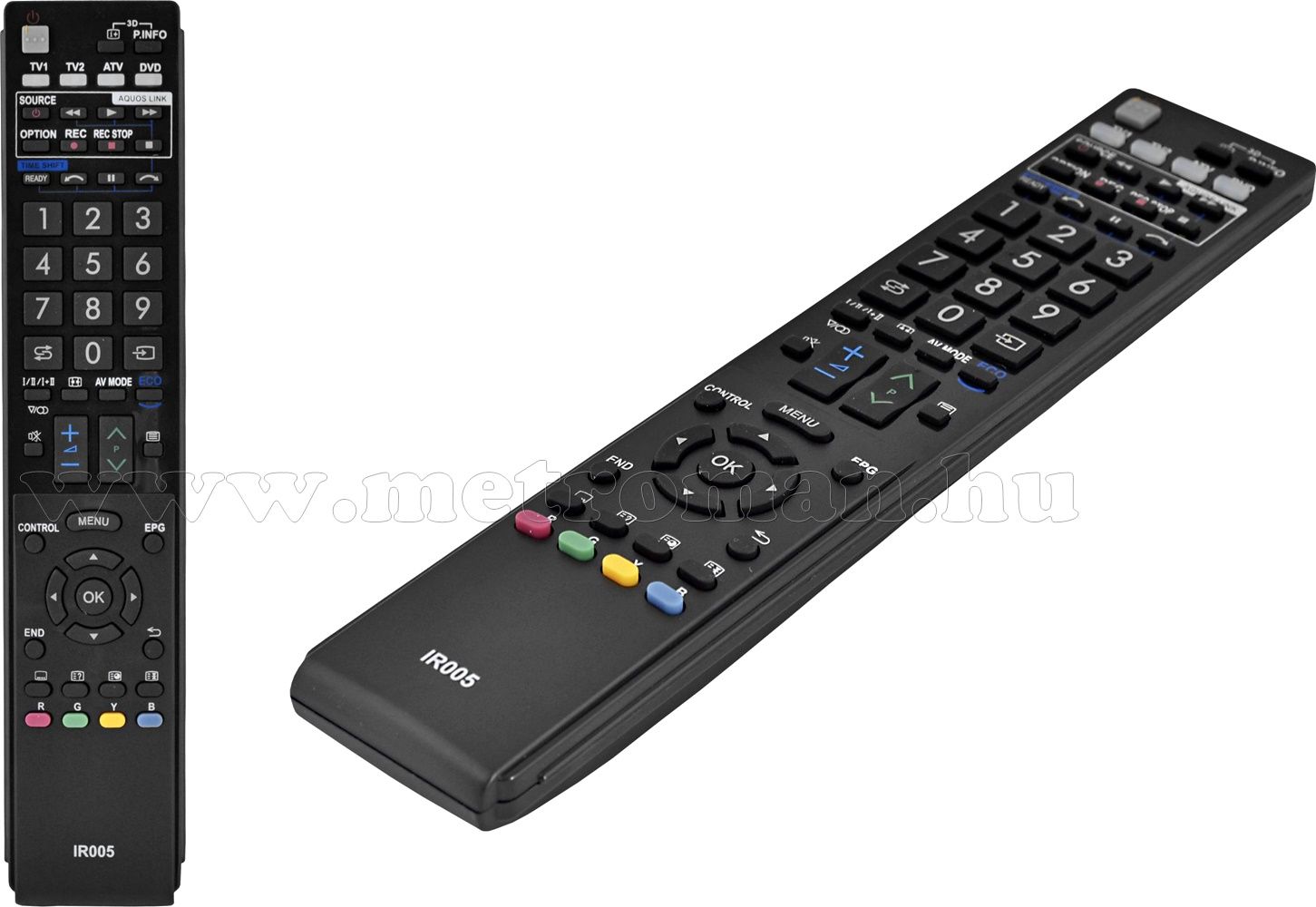 Utángyártott Univerzális Sharp TV  távirányító Sharp LCD LED TV-hez URC-67 IR005