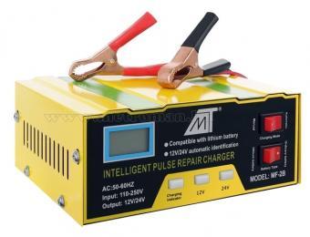 Intelligens impulzus akkumulátor töltő MF-2B 12/24V 14A