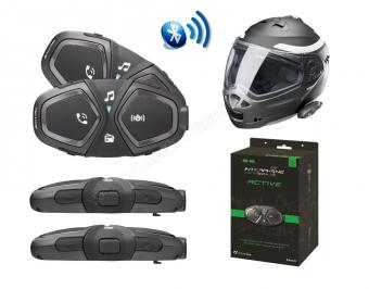 Interphone Active motoros Bluetooth kihangosító Headset Twin Pack