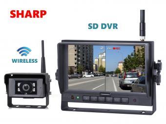 Ipari kivitelű vezeték nélküli tolatókamera szett SD kártyás DVR LCD monitorral 1 db tolatókamerával Sharp HDW127-HDW143671