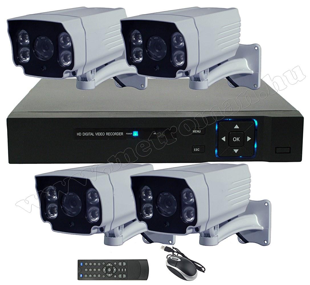 4 kamerás AHD DVR biztonsági megfigyelő kamera rendszer MKA5710M HD