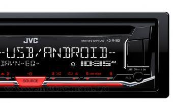 CD / MP3 / USB autórádió, JVC KD-R482