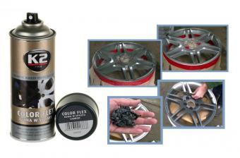 K2 COLOR FLEX Gumispray szürke 400 ml M01366-K2