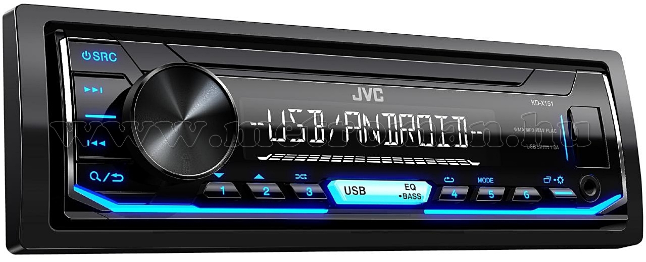 MP3/WMA/WAV/FLAC autórádió JVC KD-X151