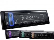 Bluetooth / USB / MP3 autórádió változó színű háttérvilágítással JVC KD-X361BT