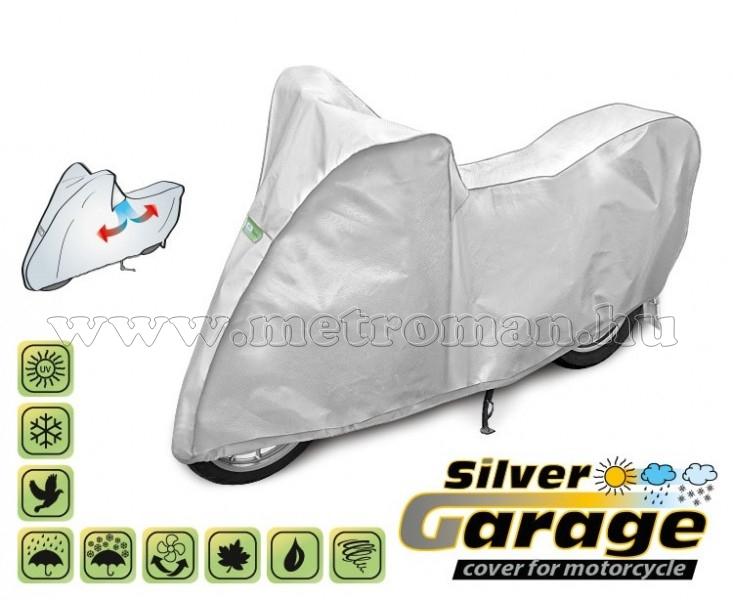 Motorkerékpár takaró ponyva, M-es méretű, SILVER GARAGE KEGEL KEG4232
