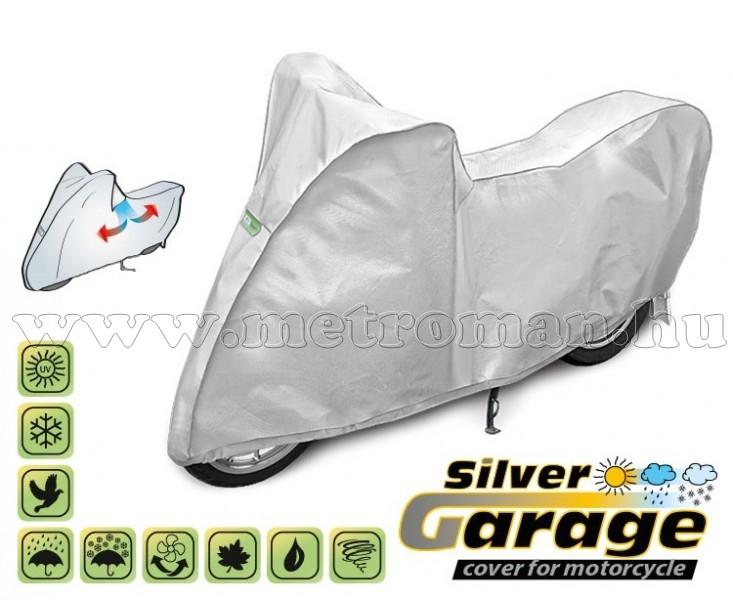 Motorkerékpár takaró ponyva, L-es méretű, SILVER GARAGE KEGEL KEG4234