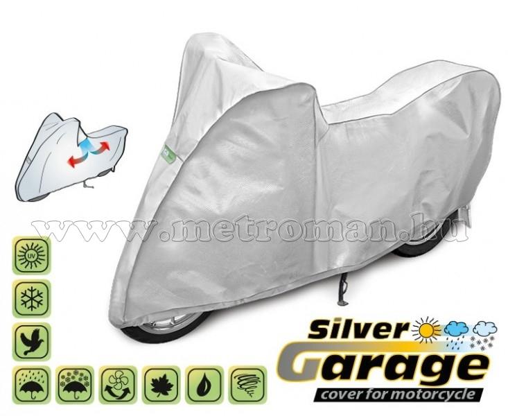 Motorkerékpár takaró ponyva, XL-es méretű, SILVER GARAGE KEGEL KEG4236