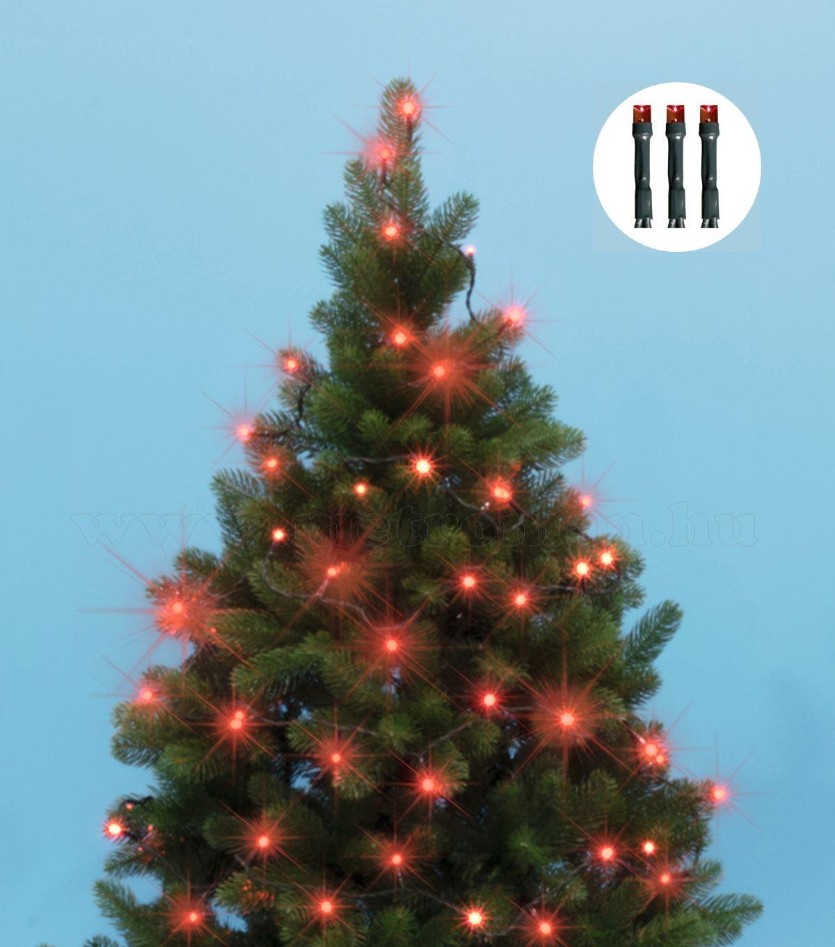 Karácsonyi LED égősor fényfüzér, piros KII100/R