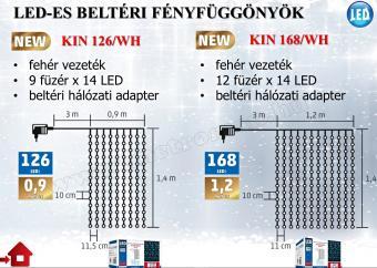 LED-es fényfüggöny KIN 168/WH