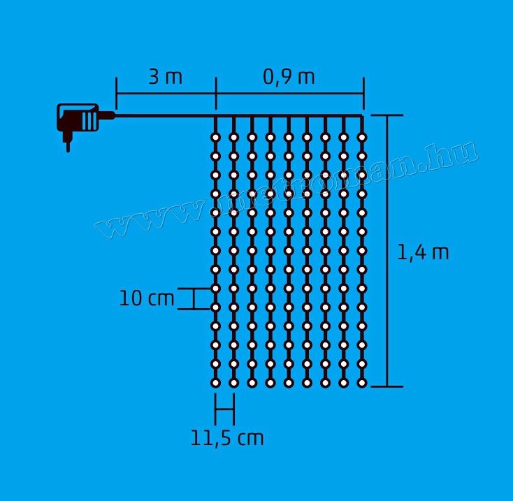 LED-es fényfüggöny KIN 126/WH
