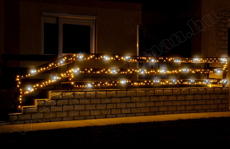 Karácsonyi kültéri LED-es égősor, fényfüzér, sziporkázó KKL 500F/WH