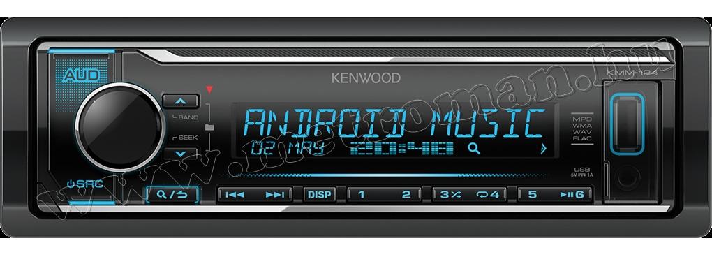 MP3/WMA/WAV/FLAC autórádió USB bemenettel Kenwood KMM-124Y