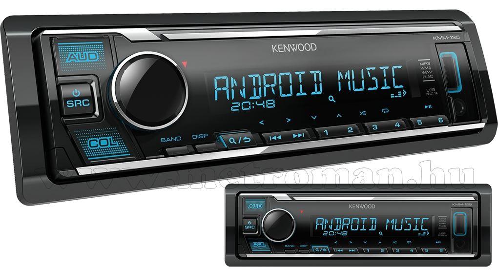 MP3/USB/AUX autórádió Kenwood KMM-125